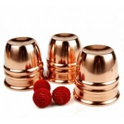 Set cubiletes de cobre