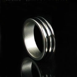PK Ring doble banda negra 19mm