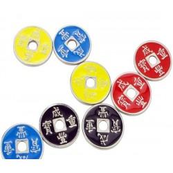 Set de monedas chinas ROJAS