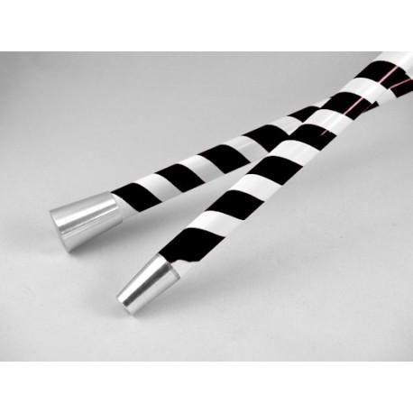 Bastón bailarín aluminio negro y blanco