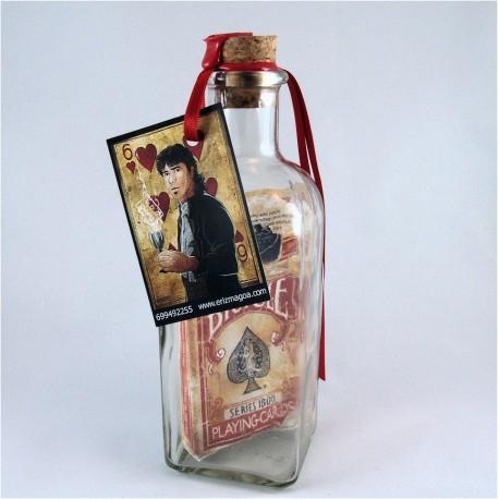 Botella Imposible Vintage Roja