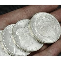 Réplica dólar Morgan plata