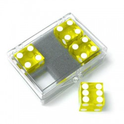 Pack 4 dados precisión 19mm amarillo