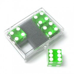 Pack 4 dados precisión 19mm verde