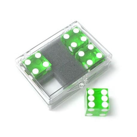 Pack 4 dados precisión 19mm verde