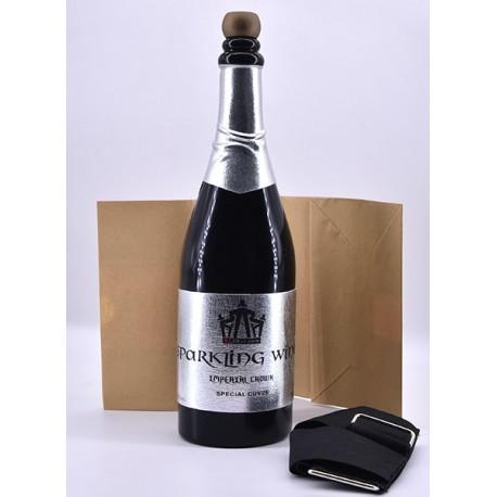 Botella de champán desaparición negra
