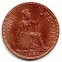 Moneda Penique Inglés