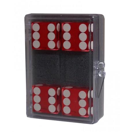 Pack 4 dados precisión 19mm rojo
